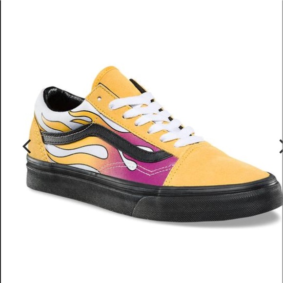 54722c1241 Vans Old Skool Yellow Flame 🔥 Sneaker